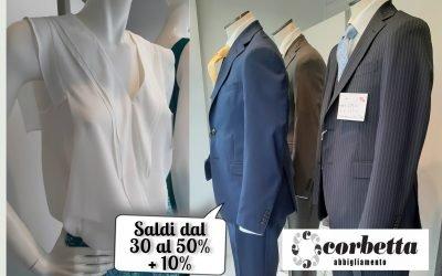 Fino a fine Agosto Saldi dal 30% al 50% +10