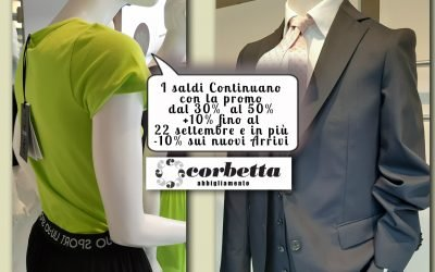 Un Grande Settembre di Promozioni da Corbetta Abbigliamento